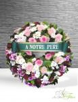 COURONNE rose et blanche - 200€