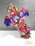 CROIX Orchidées roses - 200€